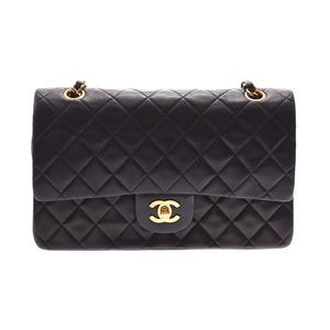 Chanel Matrasse chain shoulder bag black G metal fittings lady's lambskin B rank CHANEL box Gala used silver warehouse