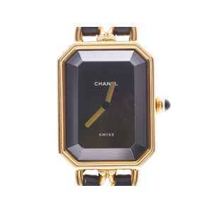 Chanel Premiere M Size Black Dial Ladies GP / Leather Quartz Watch AB Rank CHANEL Used Ginzo