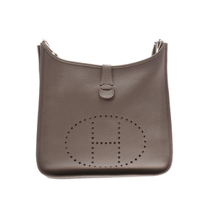 Hermes Evelyn GM Ethane SV metal fittings □ P stamp Ladies Triyon Clements Shoulder Bag A rank Good Condition HERMES Used Ginzo