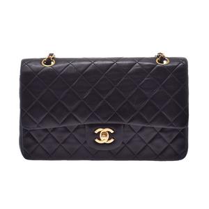 Chanel Matrasse chain shoulder bag black G metal fittings lady's lambskin B rank CHANEL Gala used silver warehouse
