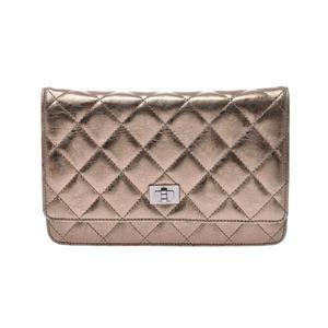 シャネル(Chanel) シャネル 2.55 チェーンウォレット シャンパンゴールド レディース カーフ 財布 バッグ Bランク CHANEL 中古 銀蔵