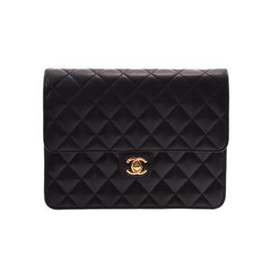 Chanel Matrasse Chain Shoulder Bag Turnlock Black GP Hardware Ladies Lambskin A Rank CHANEL Box Gala Used Ginzo
