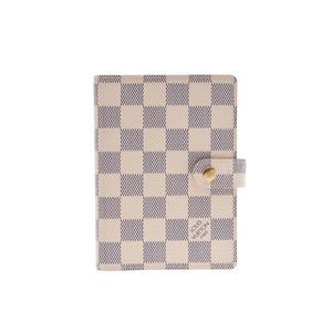 Louis Vuitton Azure Agenda PM White R20706 Men's Women's Leather Notebook Cover A Rank Good Condition LOUIS VUITTON Used Ginkura