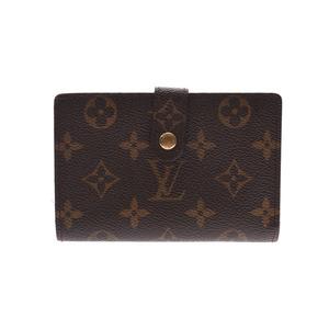 Louis Vuitton Monogram Portofeuille Vienova Brown M61674 Women's Men's Genuine Leather Purse AB Rank LOUIS VUITTON Used Ginzo