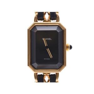 Chanel Premiere L Size Black Dial Ladies GP / Leather Quartz Wrist Watch AB Rank CHANEL Used Ginzo