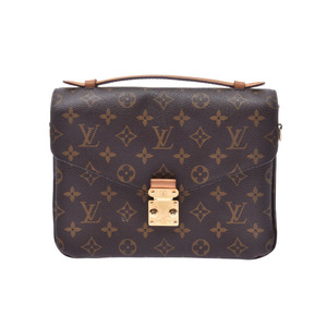 Louis Vuitton Monogram Pochette Metis Brown M40780 Women's Men's 2WAY Bag B Rank LOUIS VUITTON Used Ginzo