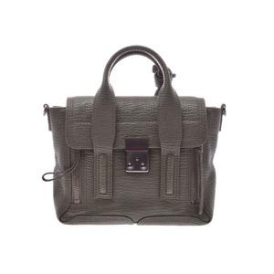Philip Rim Pashuri Mini Satchel Khaki Ladies Calf 2WAY Handbag AB Rank 3.1 Phillip Lim Used Ginzo
