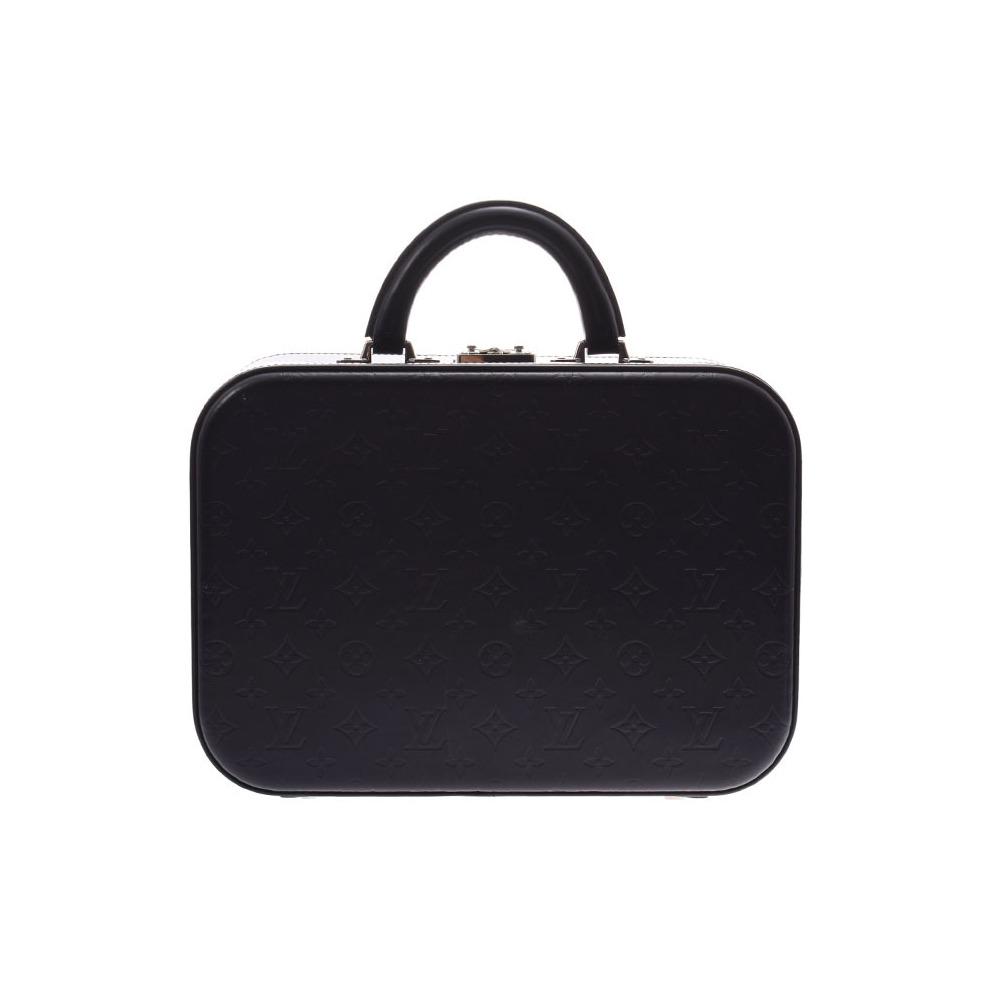 Louis Vuitton Glass Mini Trunk Valiset MM Black M92234 Men's Women's Genuine Leather Trunk