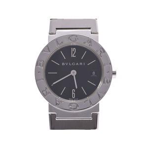 ブルガリ ブルガリブルガリ26 黒文字盤 BB26SS レディース SS クオーツ 腕時計 Aランク 美品 BVLGARI 中古 銀蔵