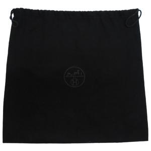Like new Hermes So Black Storage Bag Canvas Dust 0100 HERMES
