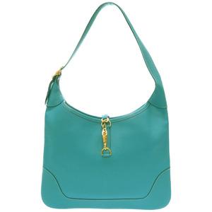 Hermes Trim 24 / Chevre turquoise shoulder bag □ I stamp gold fitting 0152 HERMES