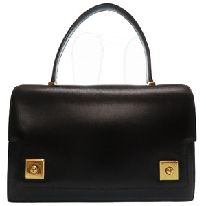 Hermes Piano Box Calf Black Gold Hardware ○ P Stamp Vintage Handbag Bag 0135 HERMES