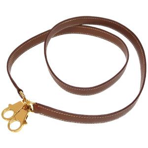 Hermes Kushbel Gold metal fittings Shoulder strap Kelly Brown 0176 HERMES