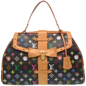 Louis Vuitton Monogram Multicolor Sack Retro GM I Love You M92052 Handbag Takashi Murakami Noir Black 0152 LOUIS VUITTON