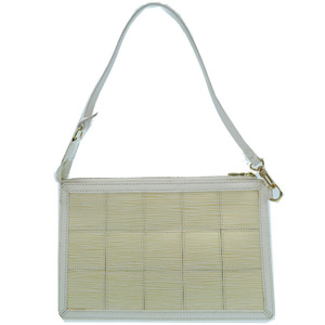 Louis Vuitton Accessory Delmonico Epistretch M54603 Pouch Handbag White LV 0016 LOUIS VUITTON