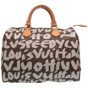 Louis Vuitton Monogram Graffiti Argen White Speedy 30 M92195 Handbag Boston 0239 LOUIS VUITTON