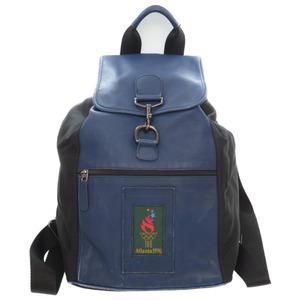 Coach Atlanta Olympic limited leather / nylon rucksack bag M5M-689 daypack blue 0024 COACH men
