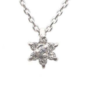 エテ(ete) Pt850(プラチナ) ダイヤモンド レディース ペンダント (プラチナ)