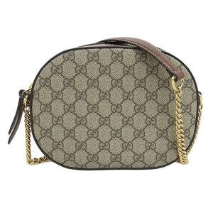 Genuine GUCCI Gucci PVC Vintage Chain Shoulder Bag 409535 Leather