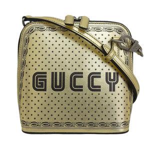 Genuine GUCCI Gucci GUCCY SEGA print mini shoulder bag gold 511189 leather
