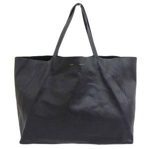 Genuine CELINE Celine Oriental Cabas Tote Bag Black 166113DBT38NO Leather