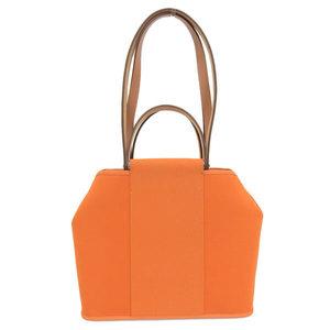 Genuine HERMES Hermes Sack Cover Back PM Twirl Officier 2WAY Bag Orange Silver Hardware □ Q Stamp Leather