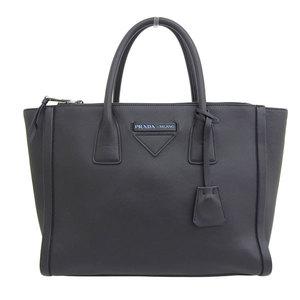 Genuine PRADA Prada Soft Calf Concept 2WAY Handbag Shoulder Bag Black 1BA183 Leather