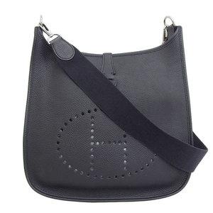 Genuine HERMES Hermes Togo Evelyn I Shoulder back Black □ C engraved leather