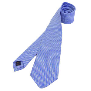 Genuine LOUIS VUITTON Louis Vuitton silk tie light blue