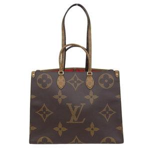 Genuine LOUIS VUITTON Louis Vuitton Giant Monogram on the go GM 2WAY bag M44576 leather