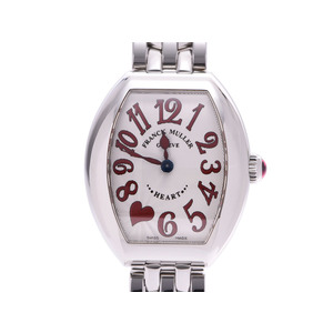 Franck Muller Heart to Silver Dial 5002SQZC7HJRED Ladies SS Quartz Watch A Rank FRANCK MULLER Box Gala Used Ginzo