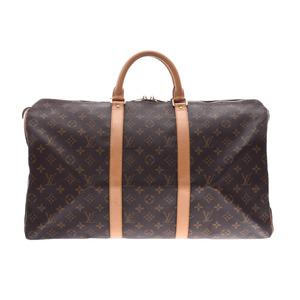 Louis Vuitton Monogram Keepall 50 Brown M41426 Men's Women's Leather Boston bag B rank LOUIS VUITTON used Ginzo