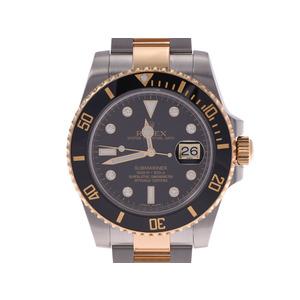 Rolex Submariner Black Dial 8P Diamond 116613GLN G Men's SS / YG Automatic Volume Wristwatch A Rank Good Condition ROLEX Box Gala Used Ginzo