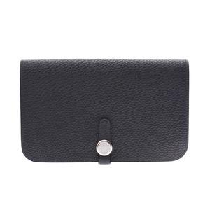 Hermes Dogon Blue Ocean SV hardware Men's Women's Togo Long wallet