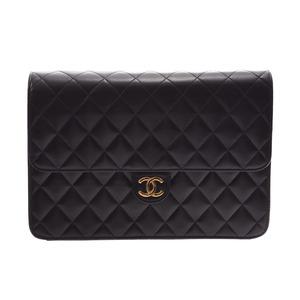 シャネル(Chanel) シャネル マトラッセ チェーンショルダーバッグ プッシュロック 黒 G金具 レディース ラムスキン Aランク  CHANEL 箱 ギャラ 中古 銀蔵