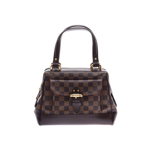 Louis Vuitton Damier Knightsbridge Brown N51201 Ladies Genuine Leather Handbag A Rank LOUIS VUITTON Used Ginzo