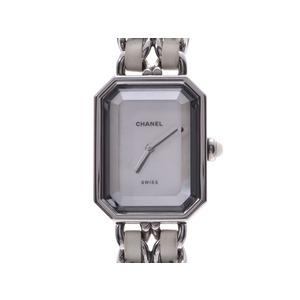 シャネル プルミエール シェル文字盤 Mサイズ H1639 レディース SS/革 クォーツ 腕時計 ABランク CHANEL 中古 銀蔵