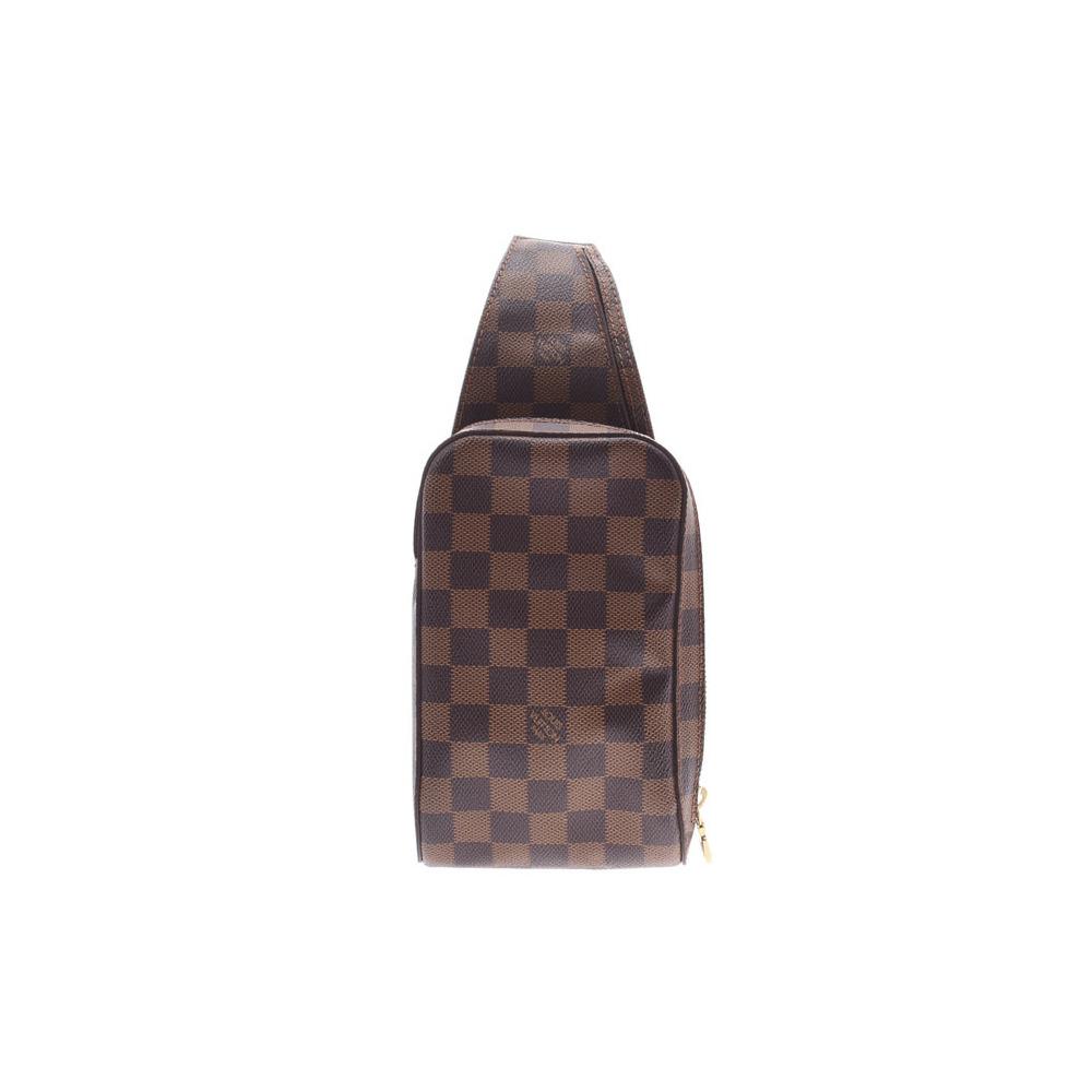 ルイ・ヴィトン(Louis Vuitton) ルイヴィトン ダミエ ジェロニモス 新型 ブラウン N51994 メンズ レディース 本革 ウエストバッグ Aランク LOUIS VUITTON 中古 銀蔵