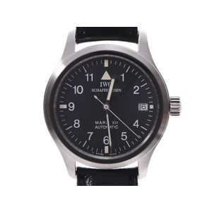 IWC Mark? Black Dial IW324101 Men's SS / Leather Automatic Wrist Watch A Rank Good Condition Used Ginzo