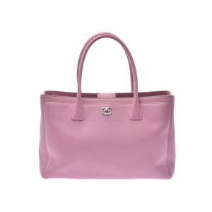 Chanel Executive Tote Pink SV Metal Ladies Calf 2WAY Bag A Rank CHANEL Gala Used Ginzo