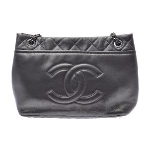 シャネル(Chanel) シャネル チェーントートバッグ メタリックシルバー SV金具 レディース カーフ Aランク CHANEL 中古 銀蔵