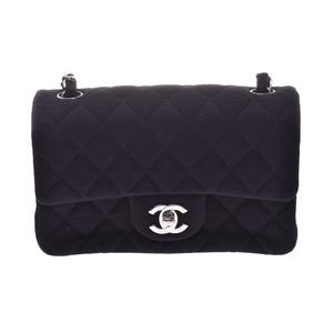 シャネル(Chanel) シャネル ミニマトラッセ チェーンショルダーバッグ 黒 SV金具 レディース ジャージー Aランク 美品 CHANEL 箱 ギャラ 中古 銀蔵