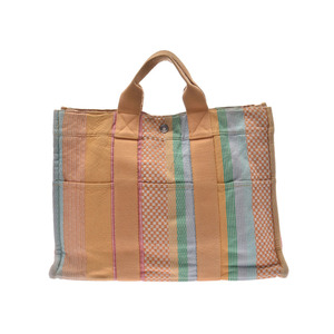 Hermes Fool Toe MM Multicolor Madison Store Limited Women's Men's Canvas Tote Bag B Rank HERMES Used Ginzo