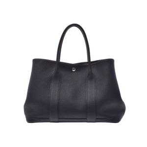Hermes Garden Party PM Black A Stamp Ladies Men's Negonda Handbag Rank Good Condition HERMES Used Ginzo