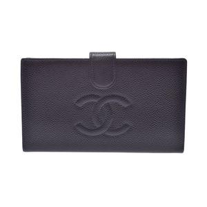 シャネル(Chanel) シャネル がま口財布 黒 レディース キャビアスキン 財布 ABランク CHANEL 中古 銀蔵