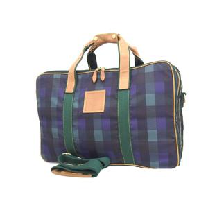 Christian Dior Vintage Check Logo 2Way Handbag Shoulder Green Navy 20190726