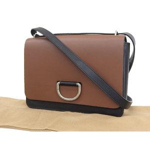 BURBERRY Burberry Logo Hardware Bicolor Shoulder Bag Leather Brown Black 20190809