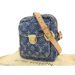 LOUIS VUITTON camera bag monogram denim shoulder blue M95348 20190726