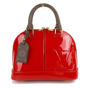 LOUIS VUITTON Louis Vuitton ALMA BB Patent Leather x Monogram 2WAY Handbag Red M52498