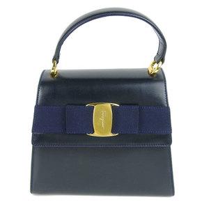 Salvatore Ferragamo Vala ribbon 2WAY shoulder bag handbag black BW-215677